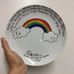 piatto nome arcobaleno