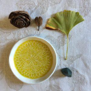 piatto mandala verde acido
