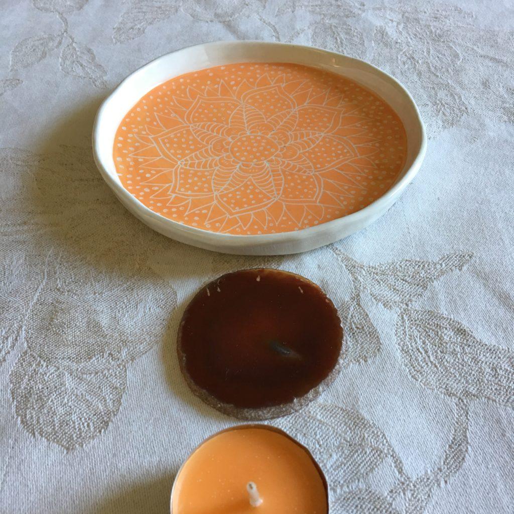 piatto mandala arancione